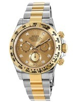 Rolex Daytona Cosmograph Champagne Diamond Dial Men's Watch 116503-0006