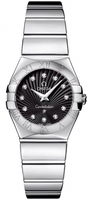 Omega Constellation Polished Quartz 24mm Black Dial Women's Watch 123.10.24.60.51.002