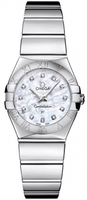 Omega Constellation Polished Quartz 24mm Mother of Pearl Women's Watch 123.10.24.60.55.002