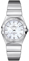 Omega Constellation Polished Quartz 27mm Mother of Pearl Women's Watch 123.10.27.60.05.002