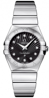 Omega Constellation Polished Quartz 27mm Black Dial Women's Watch 123.10.27.60.51.002