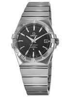 Omega Constellation Automatic Chronometer 35mm Black Dial Stainless Steel Men's Watch 123.10.35.20.01.001