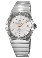 Omega Constellation Automatic Chronometer 38mm White Dial Stainless Steel Men's Watch 123.10.38.21.02.002