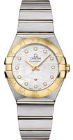 Omega Constellation Brushed Quartz 27mm  Women's Watch 123.20.27.60.55.005