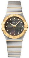 Omega Constellation Quartz 27mm Tahiti Mother of Pearl Dial Steel and Yellow Gold Women's Watch 123.20.27.60.57.007