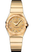 Omega Constellation Polished Quartz 27mm  Women's Watch 123.50.27.60.58.002