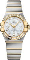 Omega Constellation Automatic Chronometer 27mm Diamond Bezel Women's Watch 127.25.27.20.55.002