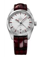 Omega Constellation  Burgundy Leather Band Men's Watch 130.93.41.22.99.001