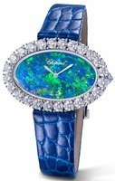 Chopard L'Heure Du Diamant  Diamond Leather Strap Women's Watch 13A376-1001