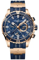 Ulysse Nardin Diver Chronograph 18K Rose Gold Automatic Men's Watch 1502-151-3/93