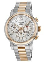 Chopard Mille Miglia Automatic Chronograph 18k Rose Gold Silver Dial Men's Watch 158511-6001
