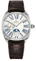 Zenith Heritage Star Moon Phase Silver Dial Brown Leather Women's Watch 16.1925.692/01.C725