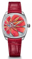 Zenith Pilot  Mother of Pearl Red Orange Flower Motif Women's Watch 16.1970.681/34.C756