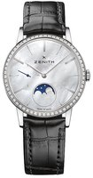 Zenith Elite Ultra Thin Lady Moonphase Diamond Mother of Pearl Dial Women's Watch 16.2320.692/80.C714
