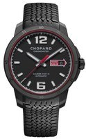 Chopard Mille Miglia GTS Chronograph Black Dial Black Rubber Limited Edition Men's Watch 168565-3002