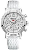 Chopard Mille Miglia Classic Chronograph Silver Dial White Rubber Men's Watch 168588-3001