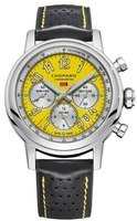 Chopard Classic Racing Mille Miglia Yellow Dial Black Leather Limited Edition Men's Watch 168589-3011