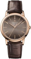 Zenith Elite Classic Rose Gold Brown Leather Men's Watch 18.2290.679/18.C498