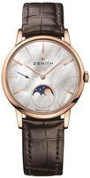 Zenith Elite Ultra Thin Lady Moonphase Rose Gold Mother of Pearl Dial Women's Watch 18.2320.692/80.C713