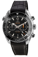 Omega Seamaster Planet Ocean 600M Chronograph 45.5mm Co-Axial Master Chronometer Black Dial Leather/Rubber Strap Men's Watch 215.33.46.51.01.001