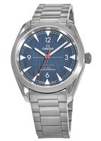 Omega Seamaster Railmaster Co-Axial Master Chronometer 40mm Blue Dial  Steel Men's Watch 220.10.40.20.03.001