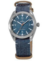 Omega Seamaster Railmaster Master Chronometer Blue Dial On Nato Strap Men's Watch 220.12.40.20.03.001