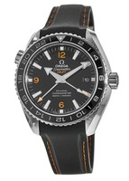 Omega Seamaster Planet Ocean 600M GMT Automatic Chronometer Black Dial Rubber Strap Men's Watch 232.32.44.22.01.002