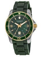 Victorinox Swiss Army Maverick Large Green Dial Rubber Strap Men's Watch 241606