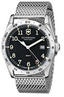 Victorinox Swiss Army Infantry  GMT Black Dial Mess Band Men's Watch 241649