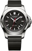 Victorinox Swiss Army I.N.O.X. Steel & Rubber  Black Dial Black Rubber Men's Watch 241682.1