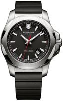Victorinox Swiss Army I.N.O.X. Steel & Rubber  Black Dial Black Rubber Men's Watch 241682.1-SD