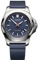 Victorinox Swiss Army I.N.O.X. Steel & Rubber  Blue Dial Blue Rubber Men's Watch 241688.1