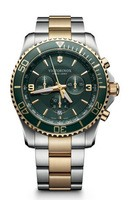 Victorinox Swiss Army Maverick  Chronograph Green Dial Two-Tone Stainless Steel Men's Watch 241693