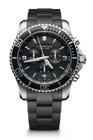 Victorinox Swiss Army Maverick  Chronograph Black Dial Black Rubber Men's Watch 241696
