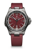 Victorinox Swiss Army Night Vision  Red Dial Red Rubber Strap Men's Watch 241717
