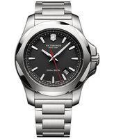 Victorinox Swiss Army   I.N.O.X. Black Dial Stainless Steel Men's Watch 241723.1
