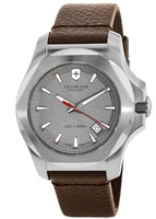 Victorinox Swiss Army I.N.O.X. Leather  Gray Dial Brown Leather Men's Watch 241738