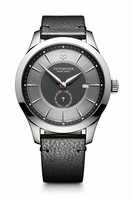 Victorinox Swiss Army Alliance  Grey Dial Black Leather Men's Watch 241765