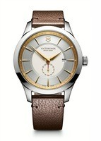 Victorinox Swiss Army Alliance  Silver Dial Brown Leather Men's Watch 241767