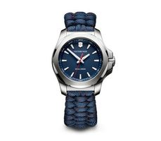 Victorinox Swiss Army I.N.O.X. V  Blue Dial Blue Fabric Women's Watch 241770