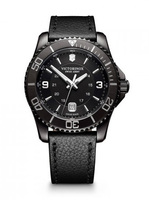 Victorinox Swiss Army Maverick  Black Dial Black Leather Men's Watch 241787