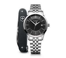 Victorinox Swiss Army Alliance  Black Dial Stainless Steel Men's Watch 241801.1