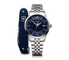 Victorinox Swiss Army Alliance  Blue Dial Stainless Steel Men's Watch 241802.1