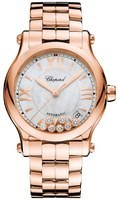 Chopard Happy Sport Medium Automatic 36mm Rose Gold Women's Watch 274808-5009
