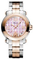 Chopard Happy Sport Medium 36mm Educate A Child Mother of Pearl Women's Watch 278488-6016