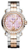 Chopard Happy Sport Medium 36mm Educate A Child 18K Rose Gold & Stainless Steel Diamond Women's Watch 278488-6017