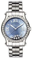 Chopard Happy Sport Medium Automatic 36mm Blue Mother of Pearl Diamond Limited Addition Women's Watch 278559-3010
