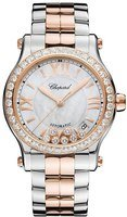 Chopard Happy Sport Medium Automatic 36mm Mother of Pearl Diamond Women's Watch 278559-6007