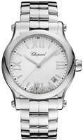 Chopard Happy Sport Medium Automatic 36mm Floating Diamond Dial Women's Watch 278582-3002