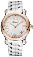 Chopard Happy Sport Medium 36mm White Women's Watch 278582-6001